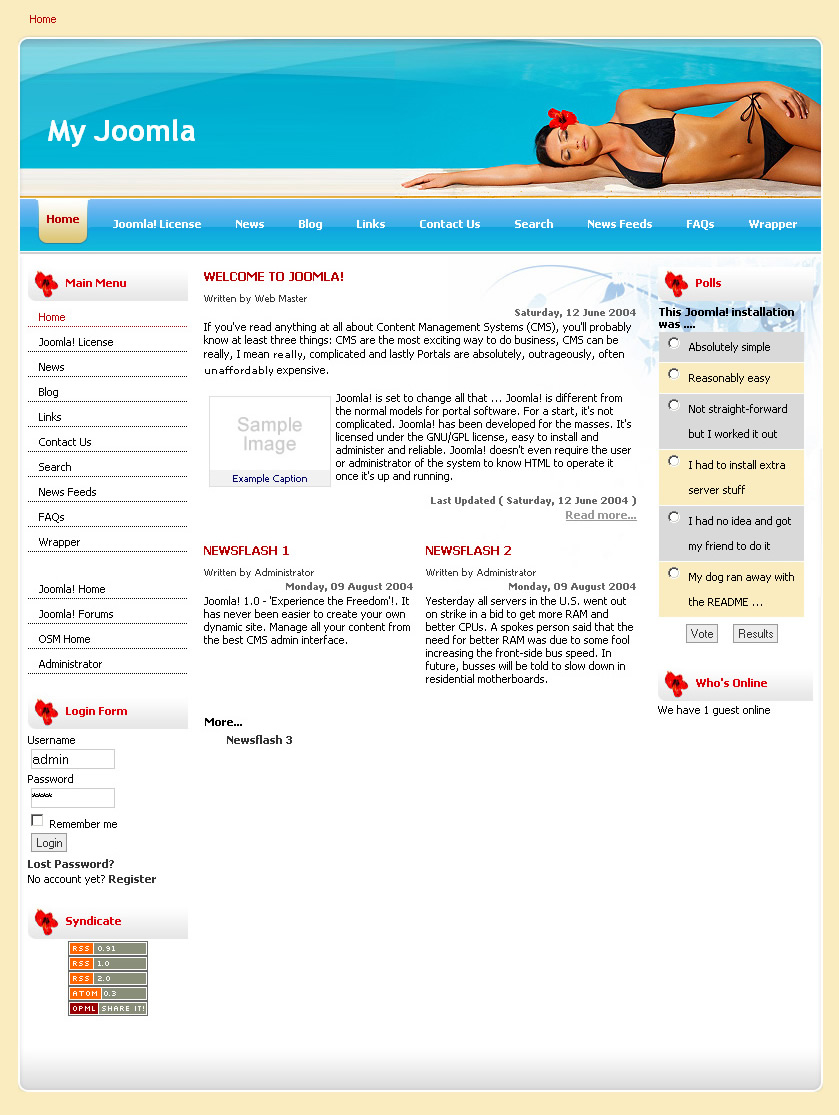 Download template joomla 1 5 e learning free balladolis for Jooma templates